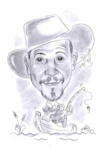 Karikatura A2 - černobílá